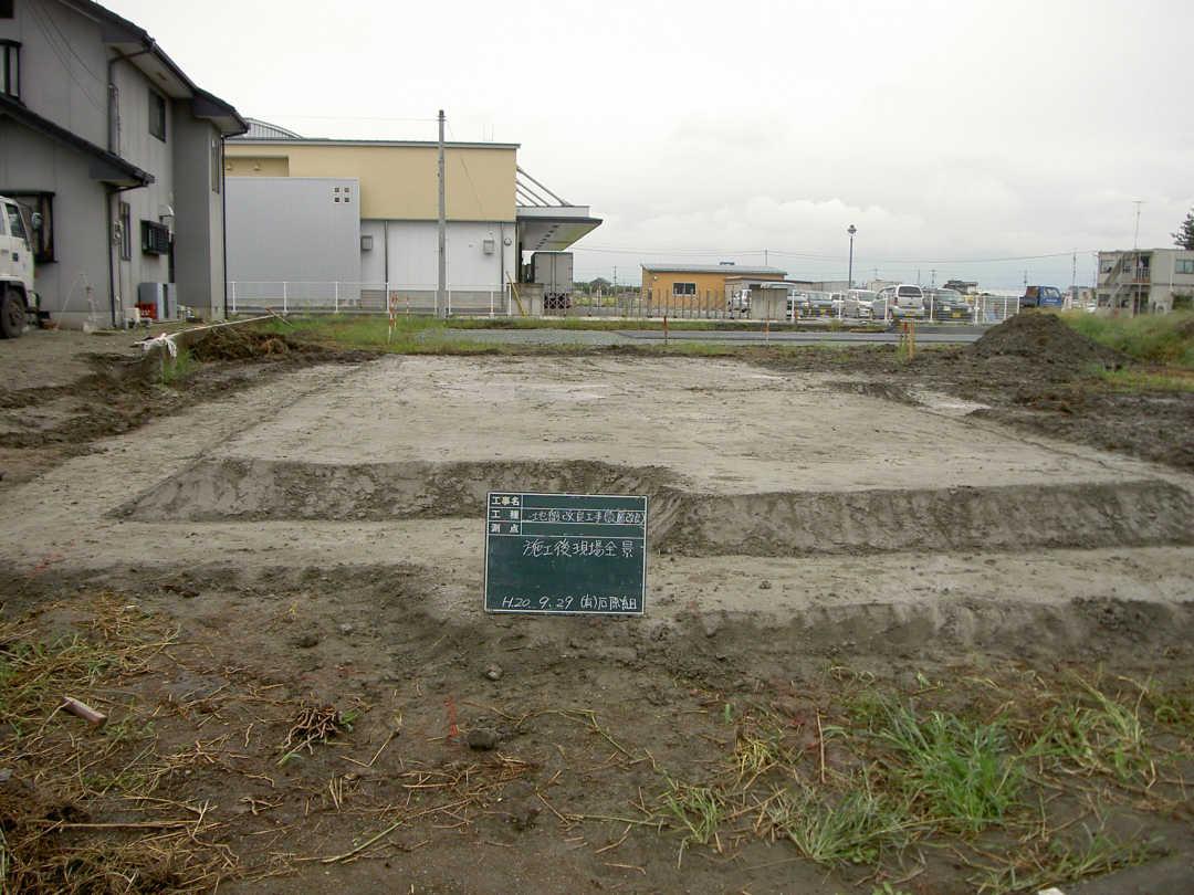 表層地盤改良工法施工後