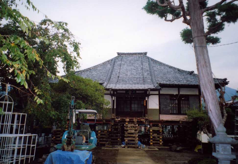寺院嵩上げ写真
