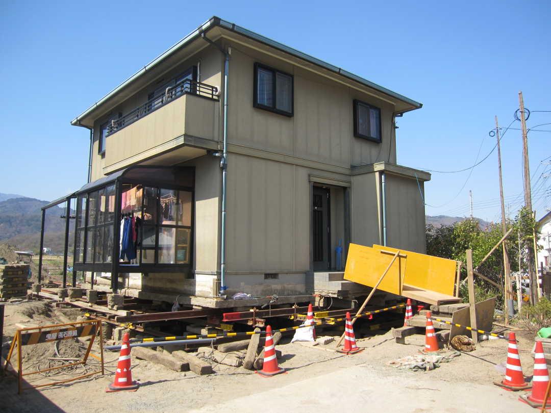 木造住宅曳家写真