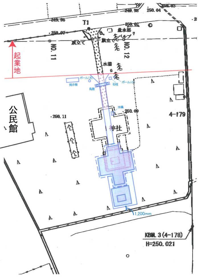 曳家神社改修施工図
